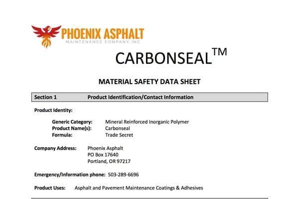 carbonseal-msds